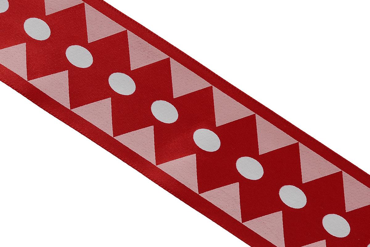 Лента атласная Dekor Line Ромбы, цвет: красный, белый, 4,5 х 300 см7710586_красныйАтласная лента Dekor Line Ромбы выполнена из высококачественного полиэстера. Область применения атласной ленты весьма широка. Лента предназначена для оформления цветочных букетов, подарочных коробок, пакетов. Кроме того, она с успехом применяется для художественного оформления витрин, праздничного оформления помещений, изготовления искусственных цветов. Ее также можно использовать для творчества в различных техниках, таких как скрапбукинг, оформление аппликаций, для украшения фотоальбомов, подарков, конвертов, фоторамок, открыток и прочего.Ширина ленты: 4,5 см.Длина ленты: 3 м.