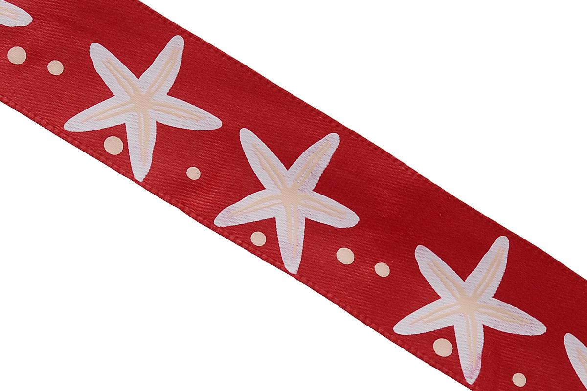 Лента атласная Dekor Line Морская звезда, цвет: красный, белый, 2,5 х 300 см7710568_красныйАтласная лента Dekor Line Морская звезда выполнена из высококачественного полиэстера. Область применения атласной ленты весьма широка. Лента предназначена для оформления цветочных букетов, подарочных коробок, пакетов. Кроме того, она с успехом применяется для художественного оформления витрин, праздничного оформления помещений, изготовления искусственных цветов. Ее также можно использовать для творчества в различных техниках, таких как скрапбукинг, оформление аппликаций, для украшения фотоальбомов, подарков, конвертов, фоторамок, открыток и прочего.Ширина ленты: 2,5 см.Длина ленты: 3 м.