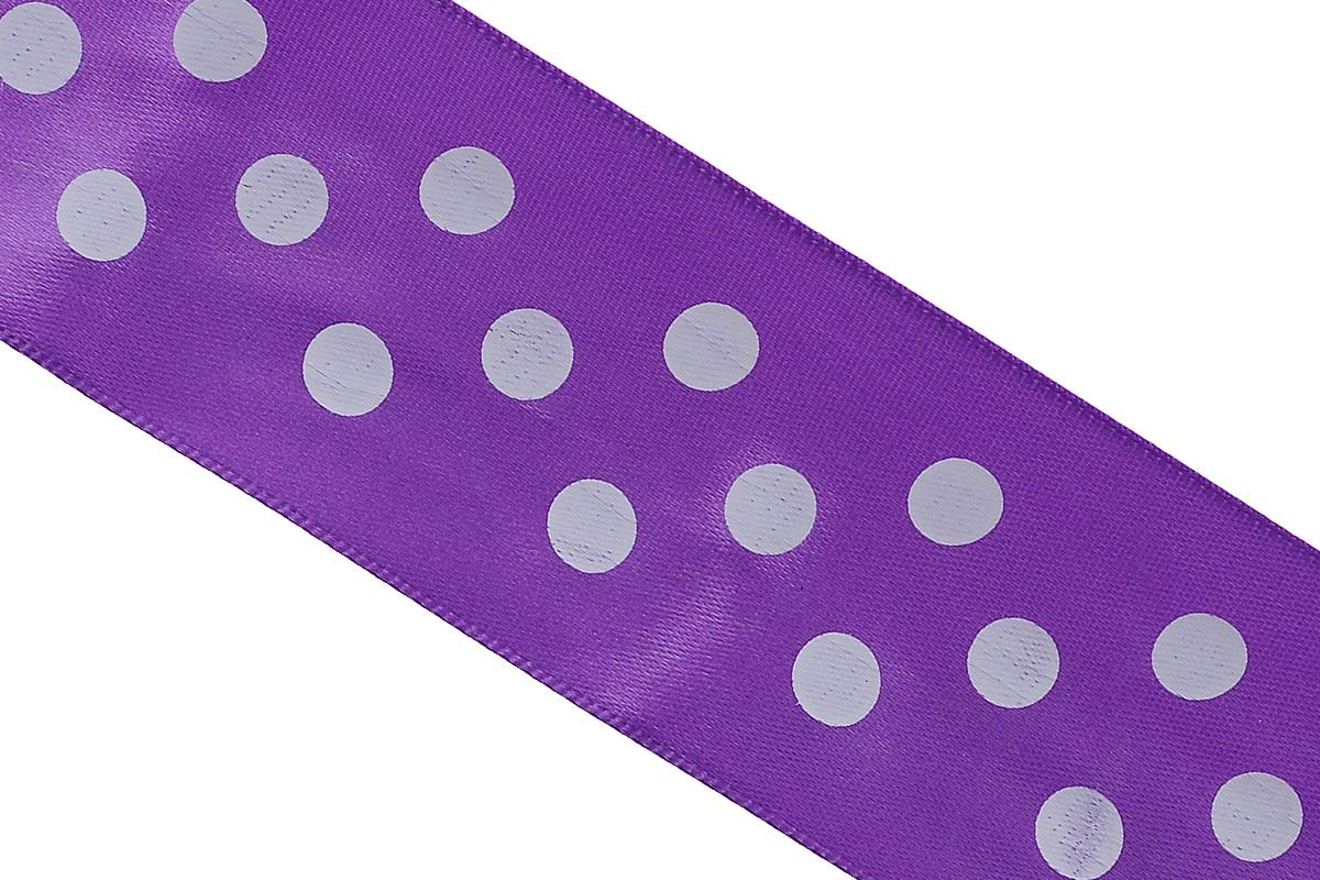 Лента атласная Dekor Line Горошек, цвет: сиреневый, белый, 4,5 х 300 см7710583_сиреневыйАтласная лента Dekor Line Горошек выполнена из высококачественного полиэстера. Область применения атласной ленты весьма широка. Лента предназначена для оформления цветочных букетов, подарочных коробок, пакетов. Кроме того, она с успехом применяется для художественного оформления витрин, праздничного оформления помещений, изготовления искусственных цветов. Ее также можно использовать для творчества в различных техниках, таких как скрапбукинг, оформление аппликаций, для украшения фотоальбомов, подарков, конвертов, фоторамок, открыток.Ширина ленты: 4,5 см.Длина ленты: 3 м.