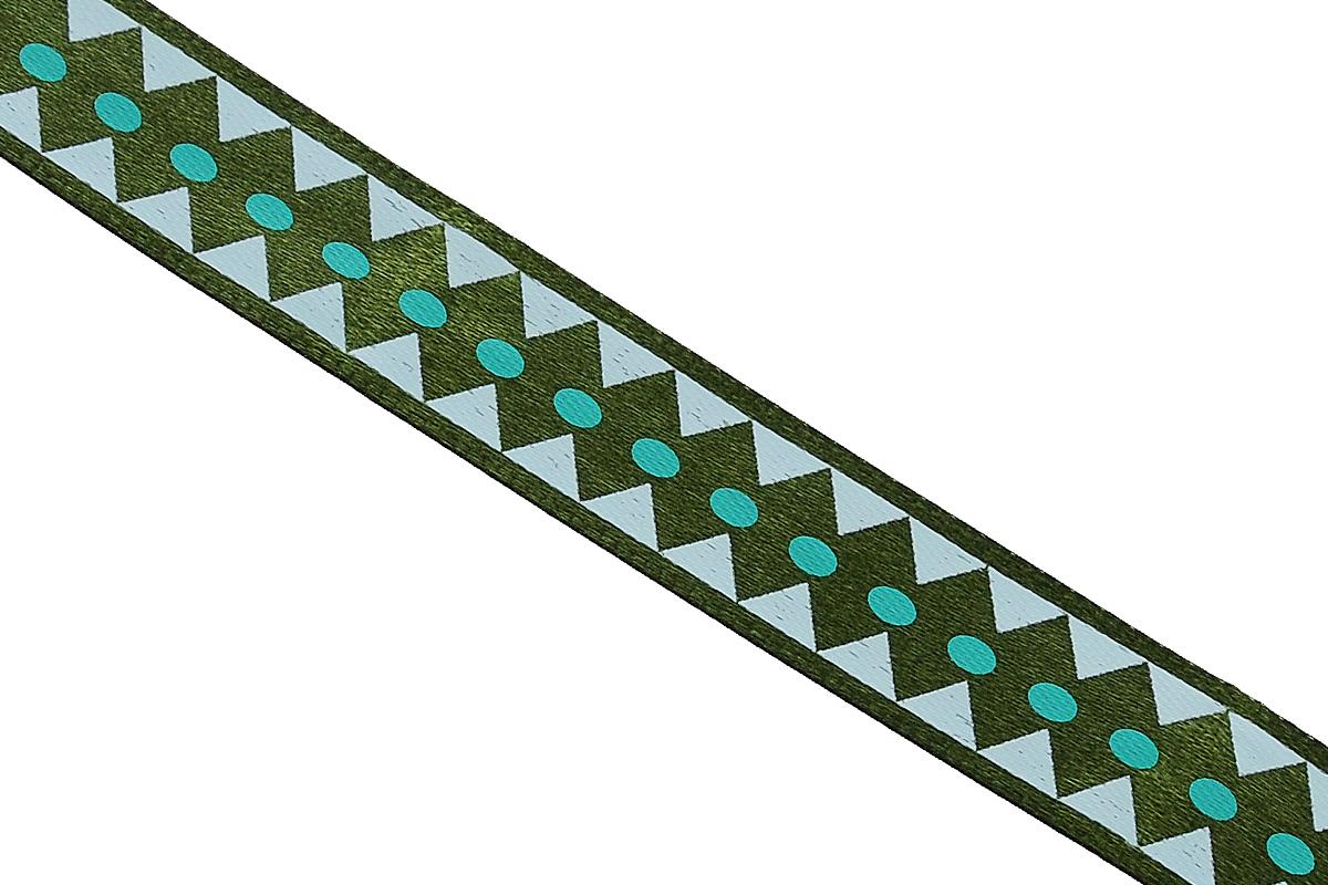 Лента атласная Dekor Line Ромбы, цвет: темно-зеленый, зеленый, 1,5 х 300 см7710559_зеленыйАтласная лента Dekor Line Ромбы выполнена из высококачественного полиэстера. Область применения атласной ленты весьма широка. Лента предназначена для оформления цветочных букетов, подарочных коробок, пакетов. Кроме того, она с успехом применяется для художественного оформления витрин, праздничного оформления помещений, изготовления искусственных цветов. Ее также можно использовать для творчества в различных техниках, таких как скрапбукинг, оформление аппликаций, для украшения фотоальбомов, подарков, конвертов, фоторамок, открыток и прочего.Ширина ленты: 1,5 см.Длина ленты: 3 м.