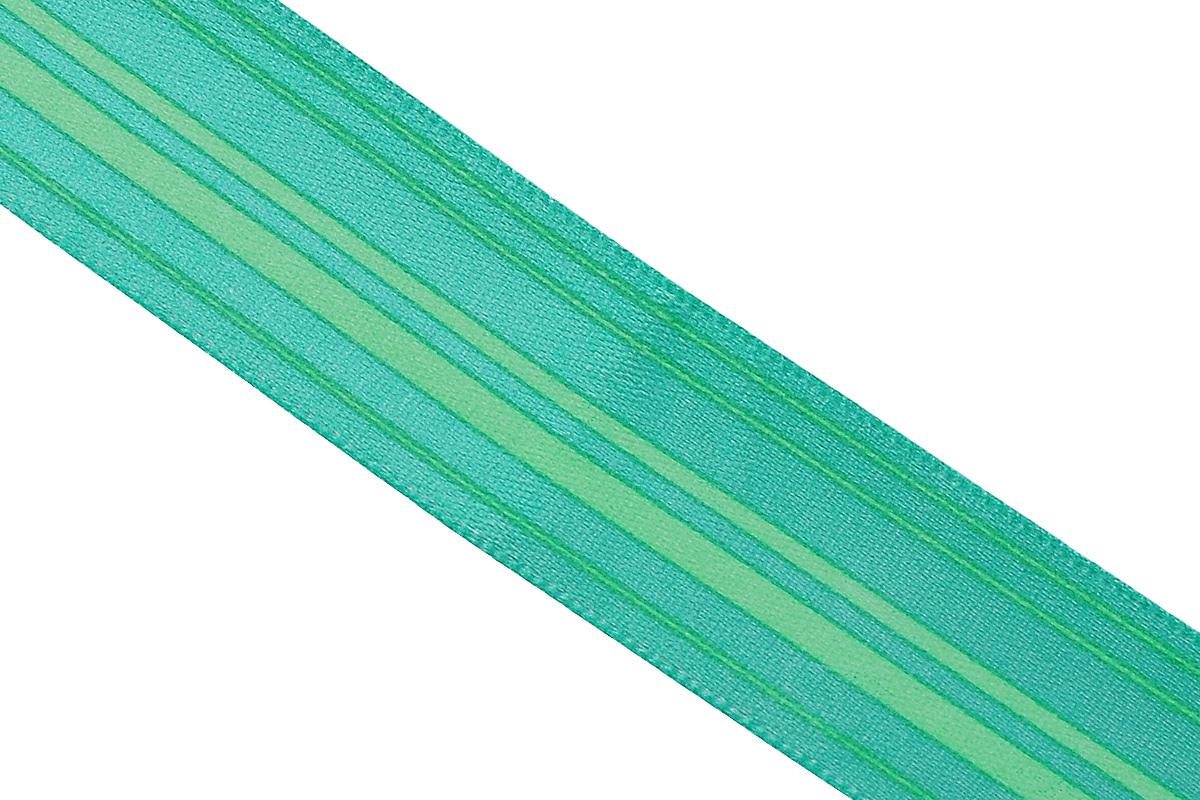 Лента атласная Dekor Line Горизонталь, цвет: зеленый, светло-зеленый, 2,5 х 300 см7710563_зеленыйАтласная лента Dekor Line Горизонталь выполнена из высококачественного полиэстера. Область применения атласной ленты весьма широка. Лента предназначена для оформления цветочных букетов, подарочных коробок, пакетов. Кроме того, она с успехом применяется для художественного оформления витрин, праздничного оформления помещений, изготовления искусственных цветов. Ее также можно использовать для творчества в различных техниках, таких как скрапбукинг, оформление аппликаций, для украшения фотоальбомов, подарков, конвертов, фоторамок, открыток и прочего.Ширина ленты: 2,5 см.Длина ленты: 3 м.