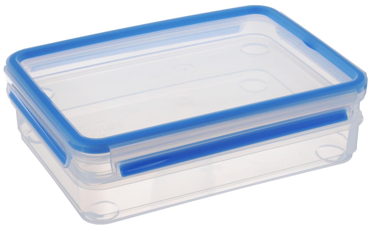 Набор контейнеров Emsa Clip&Close, цвет: прозрачный, голубой, 2 шт508557Набор прямоугольных контейнеров Emsa Clip&Close, изготовленный из пищевого пластика, предназначен специально для хранения пищевых продуктов. В набор входят два контейнера и крышка. Крышка контейнера легко открывается и плотно закрывается. Контейнеры устойчивы к воздействию масел и жиров, легко моются (можно мыть в посудомоечной машине). Прозрачные стенки позволяют видеть содержимое. Подходят для использования в микроволновых печах. Контейнеры имеют возможность хранения продуктов глубокой заморозки, в целом их температурный режим применения находится в диапазоне от -20°С до +110°С. Контейнеры обладают высокой прочностью.Объем контейнеров: 1 л, 1,65 л. Размер контейнеров: 26 х 19 х 4 см;26 х 19 х 5,5 см.