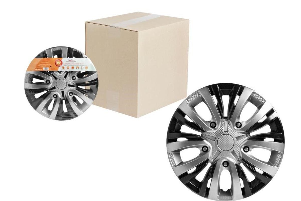 Купить Колпаки колесные Airline Лион Т , цвет: серебристо-черный, 14 , 2 шт. AWCC-14-05