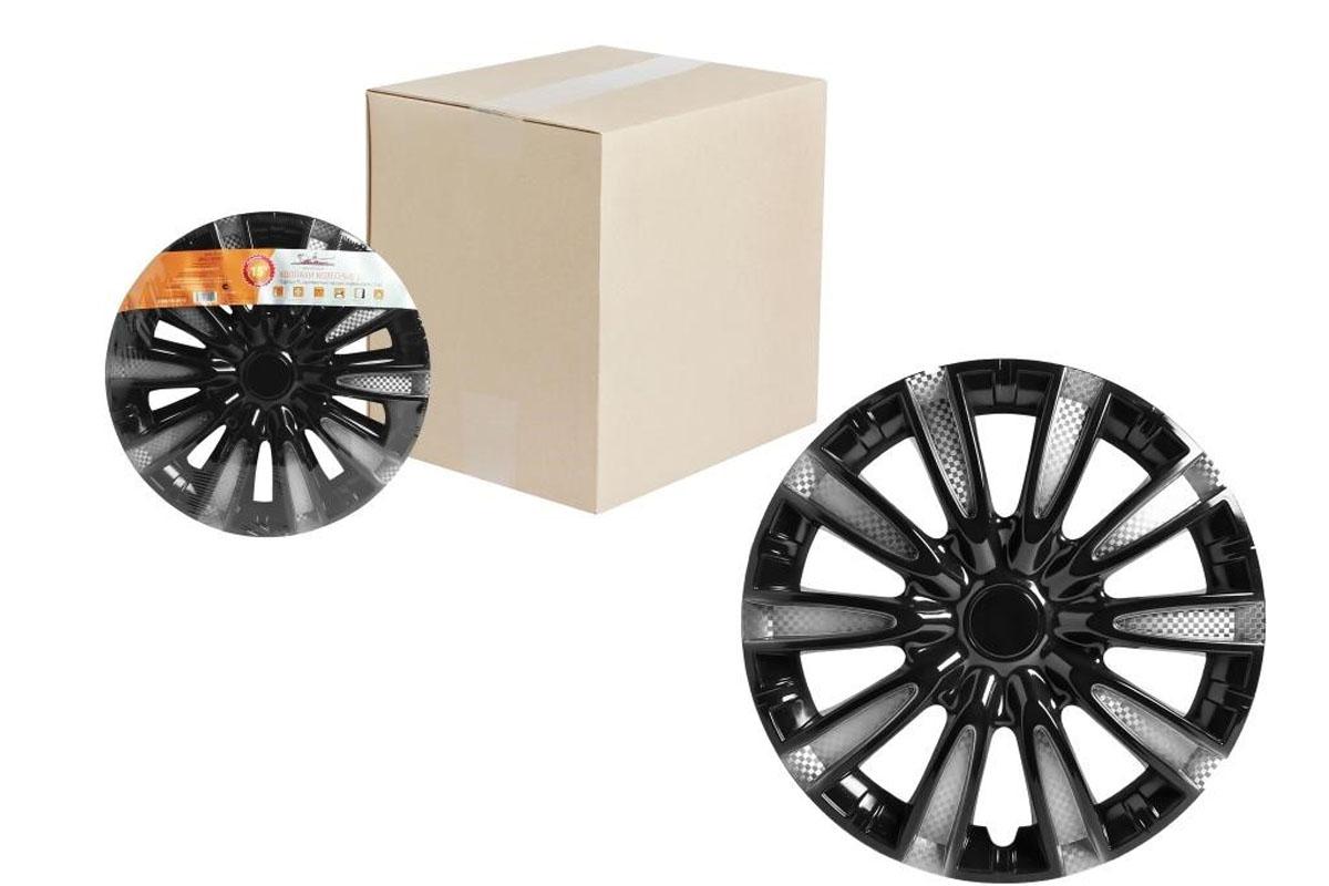 Колпаки колесные Airline Торнадо Т, цвет: серебристо-черный, 14, 2 шт. AWCC-14-10 оригинальные колесные диски на автомобиль бриллиансе