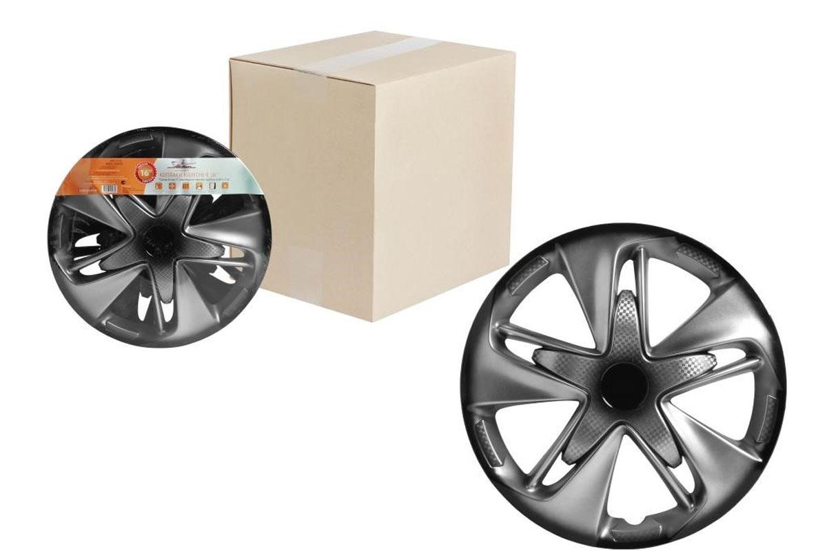 Купить Колпаки колесные Airline Супер Астра + , цвет: серебристо-черный, 16 , 2 шт. AWCC-16-02