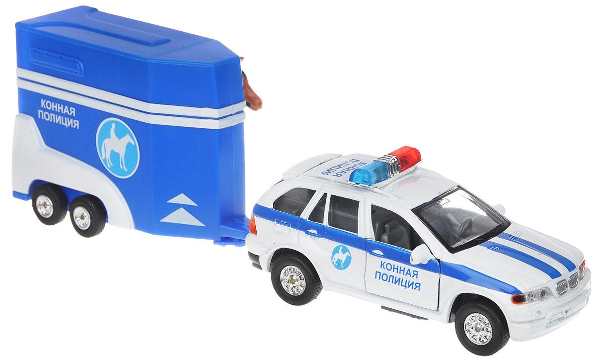 ТехноПарк Машинка инерционная Конная полиция с прицепом tonka машинка полиция