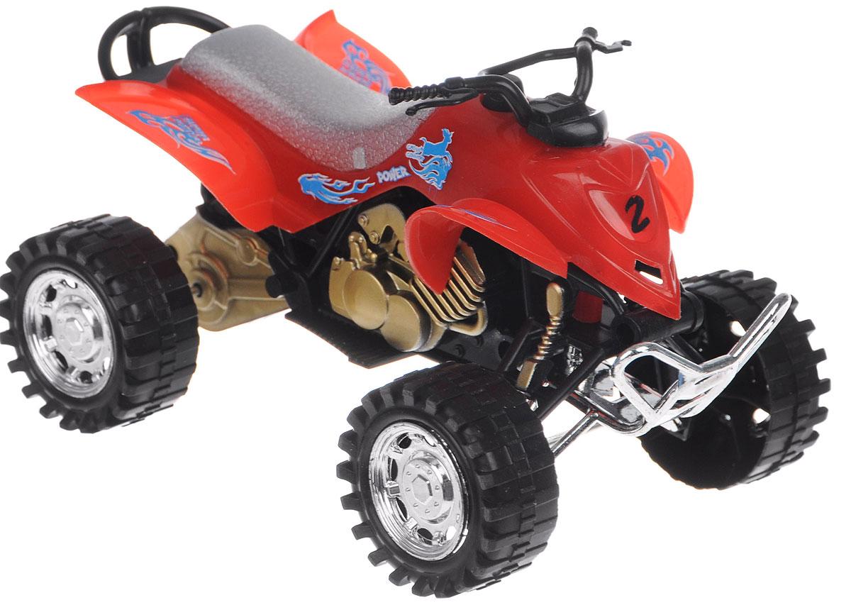 Big Motors Квадроцикл инерционный цвет красный