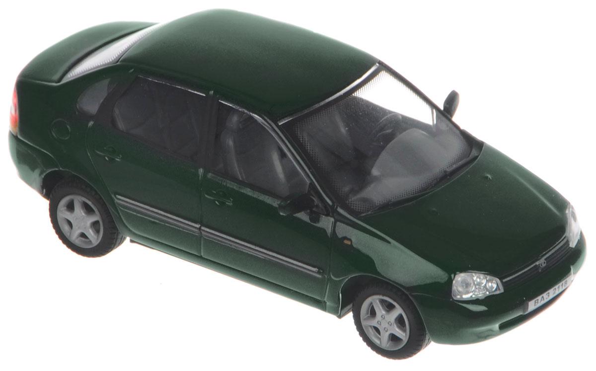 Cararama Модель автомобиля ВАЗ 2118 Lada Kalina цвет темно-зеленый фаркоп avtos на ваз 21099 разборный тип крюка h г в н 800 50кг vaz 09