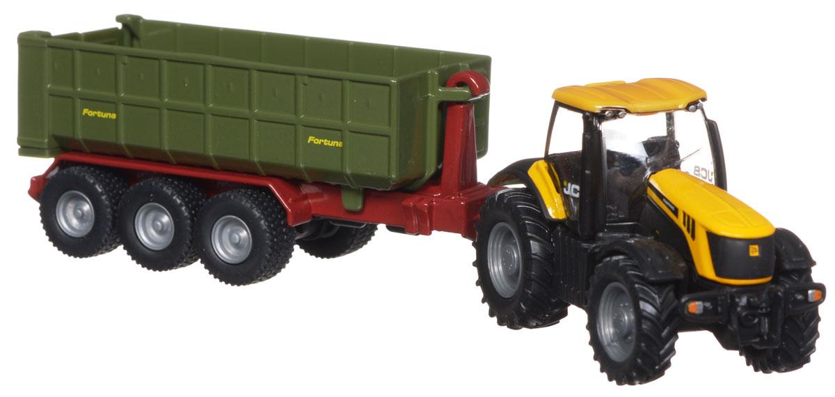 Siku Трактор JCB с прицепом siku трактор jcb с прицепом