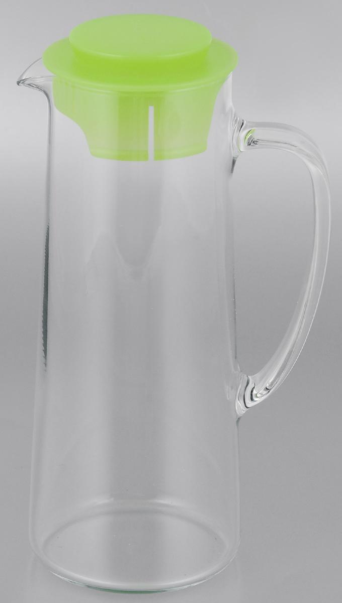 Кувшин для холодильника Tescoma Teo, с крышкой, цвет: прозрачный, зеленый, 1 л646616Кувшин Tescoma Teo, выполненный из высококачественного прочного стекла, элегантно украсит ваш стол. Изделие оснащено удобной ручкой и пластиковой крышкой. Он прост в использовании, достаточно просто наклонить его и налить ваш любимый напиток. Форма крышки обеспечивает наливание жидкости без расплескивания. Изделие прекрасно подойдет для холодильника и для подачи на стол воды, сока, компота и других напитков, как горячих так и холодных. Кувшин Tescoma Teo дополнит интерьер вашей кухни и станет замечательным подарком к любому празднику.Можно мыть в посудомоечной машине.Диаметр (по верхнему краю): 7,5 см.Высота кувшина (с учетом крышки): 24,5 см.