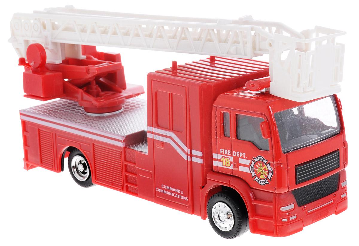 Big Motors Пожарная машина инерционная цвет красный белый пламенный мотор машинка инерционная volvo пожарная охрана