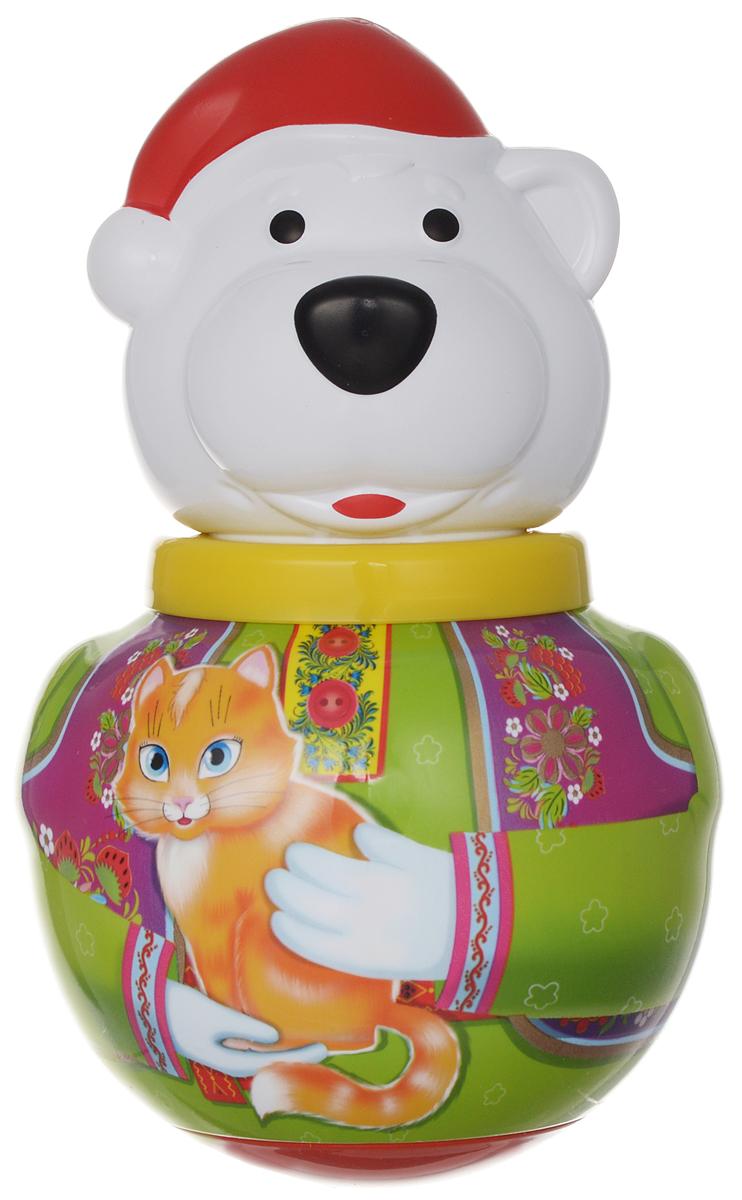 Stellar Неваляшка Белый медведь Борис с кошкой