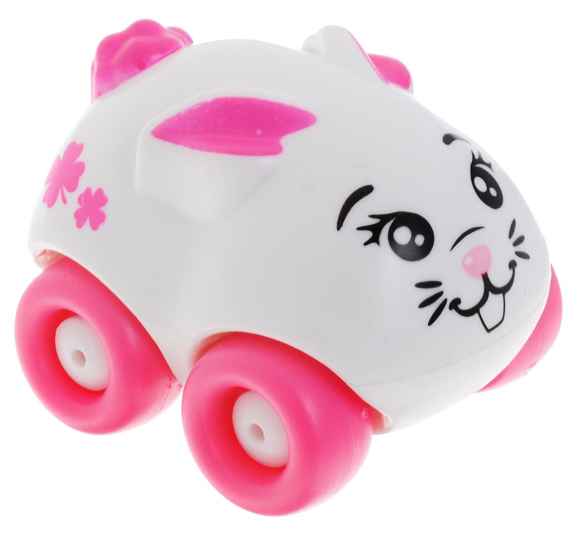 Машинка Smoby Animal Planet: Зайчик, цвет: белый, розовый smoby машинка animal planet smoby оранжевая