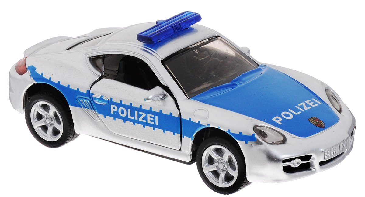 Siku Полицейская машина цвет серебристый синий