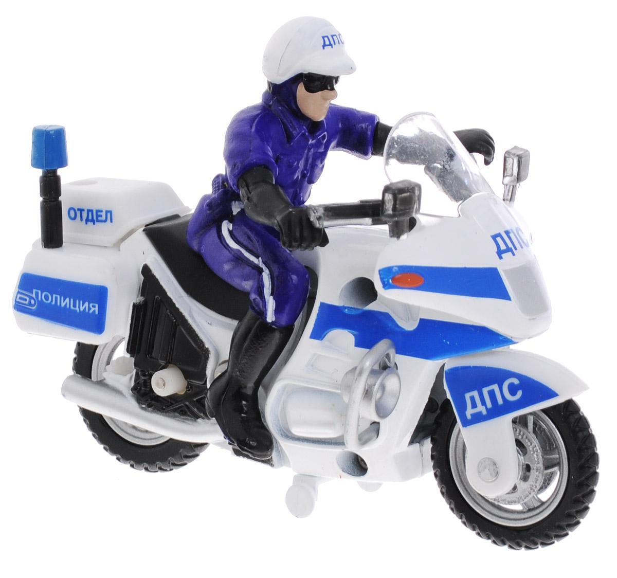 ТехноПарк Мотоцикл с фигуркой Полиция ДПС 8 отдел медаль с фигуркой игрушкой hasbro