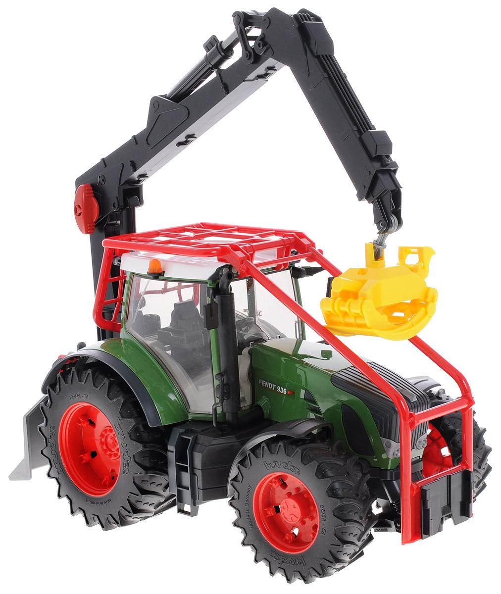 Bruder Трактор Fendt 936 Vario с манипулятором bruder трактор fendt favorit vario с погрузчиком bruder