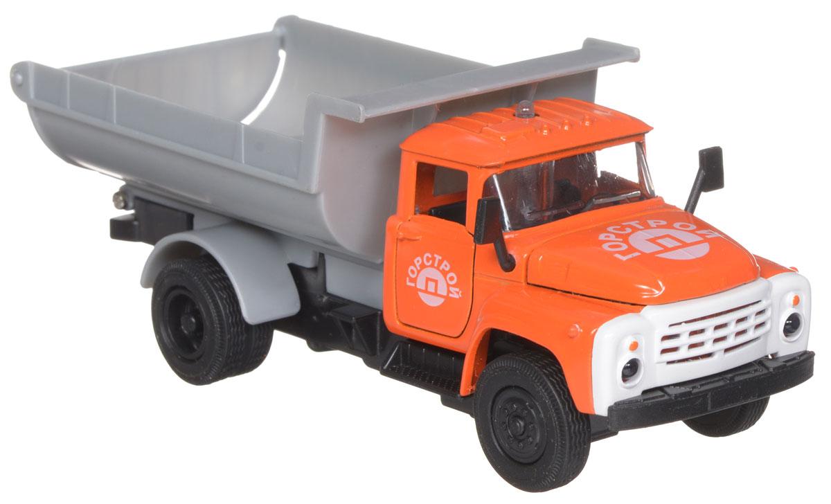 ТехноПарк Модель автомобиля ЗИЛ 130 Горстрой цвет оранжевый игрушка технопарк зил 130 ct11 309 1