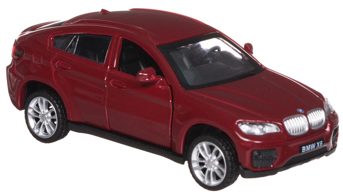 ТехноПарк Модель автомобиля BMW X6 цвет бордовый bmw машина р у 1 43 x6 15х6 5х19см артикул 31800 код товара 484445