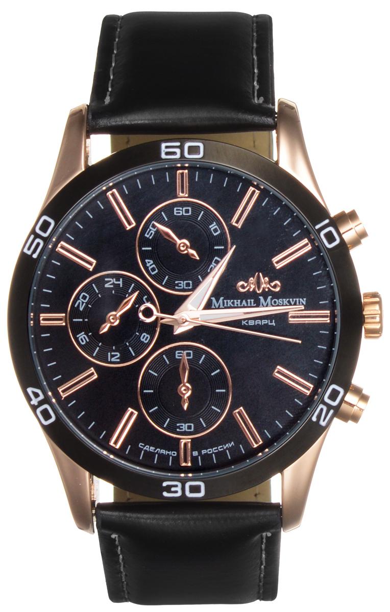Часы мужские наручные Mikhail Moskvin, цвет: черный, золотой. 1134A3L3