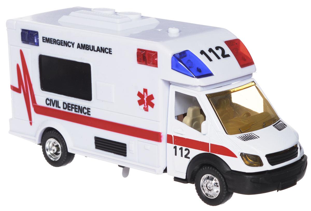 Big Motors Машинка инерционная Скорая помощь пламенный мотор машинка инерционная volvo пожарная охрана