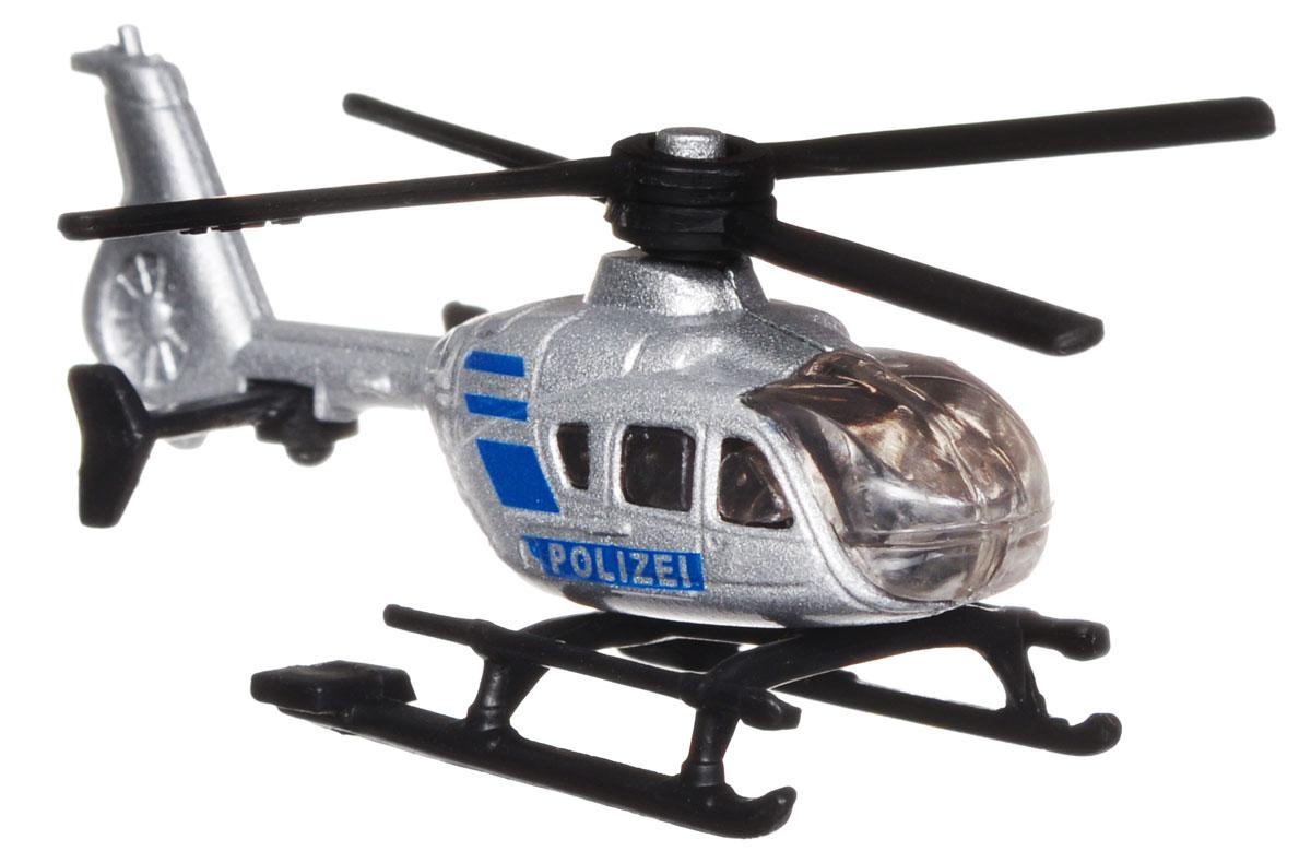 Siku Полицейский вертолет цвет серебристый синий siku siku 0804 полицейский автобус 1 55