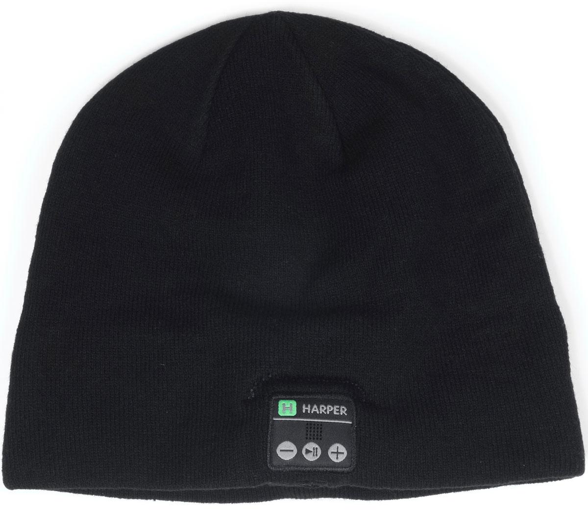 Harper HB-505, Black шапка с Bluetooth-гарнитуройH00000924Шапка Harper HB-505 с Bluetooth-гарнитурой. Идея совмещения гарнитуры и шапки реализована с вниманием к деталям. В головной убор на местах, где находятся уши пользователя, вшиты наушники. В основе используется материал, состоящий из акрила – 84%, спандекса – 10%, полиэстера – 6%. Вязка не раздражает при длительной носке. Внутри подкладки зафиксирован основной модуль и дополнительный динамик. Соединяются они между собой кабелем, скрывающимся во внутреннем стежке. Все активные элементы на правом наушнике. Минимальный обхват - 50 см.