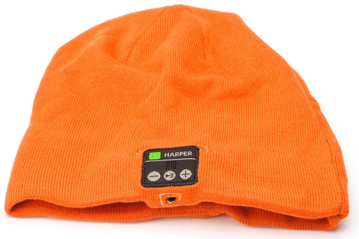 Harper HB-505, Orange шапка с Bluetooth-гарнитуройH00000925Шапка Harper HB-505 с Bluetooth-гарнитурой. Идея совмещения гарнитуры и шапки реализована с вниманием к деталям. В головной убор на местах, где находятся уши пользователя, вшиты наушники. В основе используется материал, состоящий из акрила - 84%, спандекса - 10%, полиэстера - 6%. Вязка не раздражает при длительной носке. Внутри подкладки зафиксирован основной модуль и дополнительный динамик. Соединяются они между собой кабелем, скрывающимся во внутреннем стежке. Все активные элементы на правом наушнике.