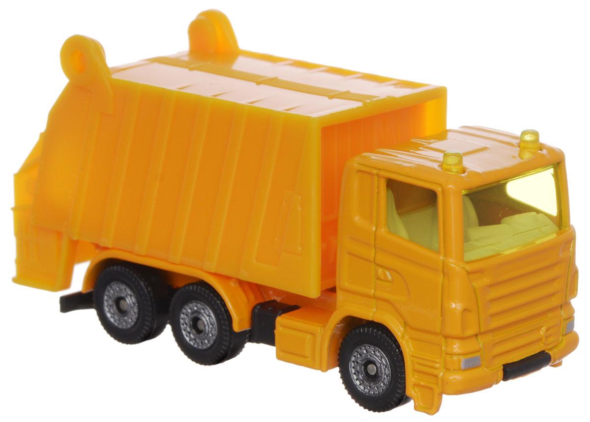 Siku Мусоровоз цвет желтый металлическая модель siku прицеп кузов 1965