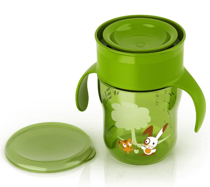 Philips Avent Чашка-поильник, 260 мл., 12м+ зеленый 260 мл поильник чашка avent scf782 20 260 мл 12 синий с красной крышкой