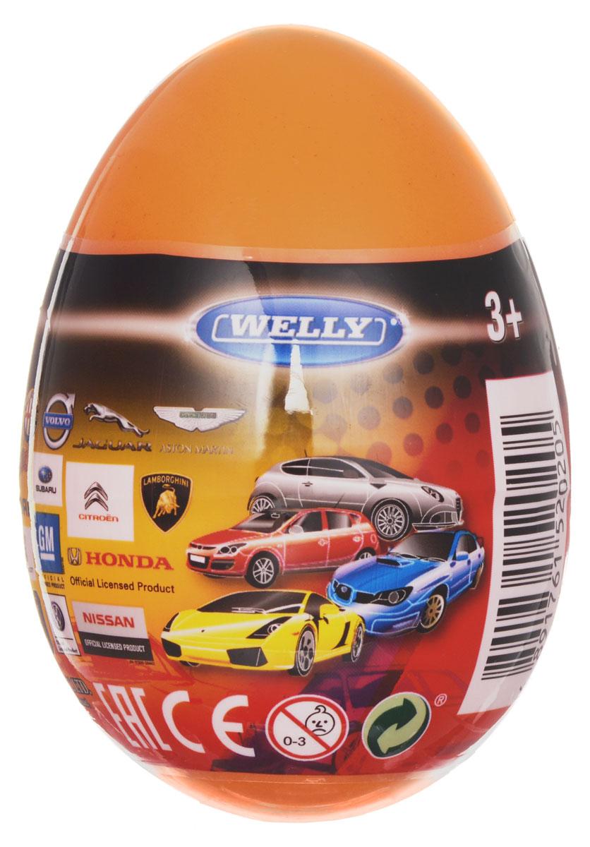 Welly Яйцо-сюрприз с машинкой цвет оранжевый машинки welly в яйце сюрпризе в ассортименте