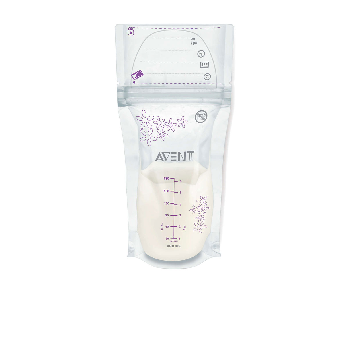 Philips Avent Пакеты для хранения молока, 180 мл, 25 шт SCF603/25 ручной молокоотсос philips avent серии natural scf330 13 с контейнерами для хранения молока philips avent