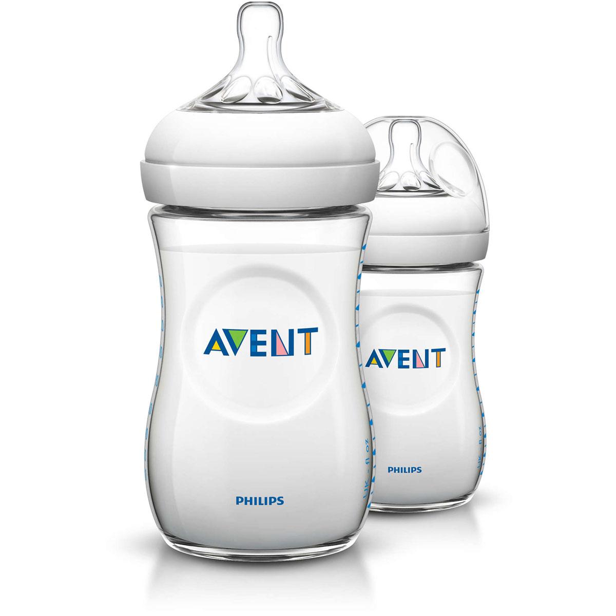 Philips Avent Бутылочка для кормления Natural от 1 месяца 260 мл 2 шт -  Бутылочки