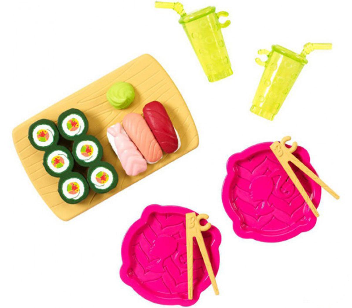 Barbie Мини-набор для декора Суши и роллы barbie набор для декора дома холодильник с продуктами cfg65 cfg70