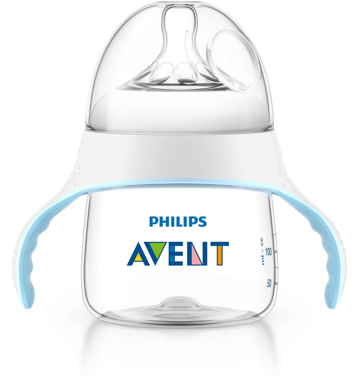 Philips Avent Тренировочный набор для перехода от бутылочки к чашке, 150 мл SCF251/00 -  Бутылочки