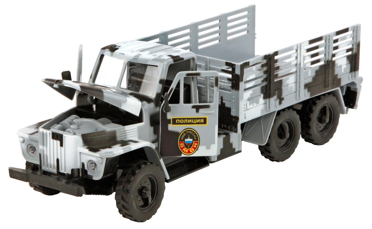 Пламенный мотор Машинка инерционная Омон Полиция МВД России машина пламенный мотор дорожные работы со световыми и звуковыми эффектами