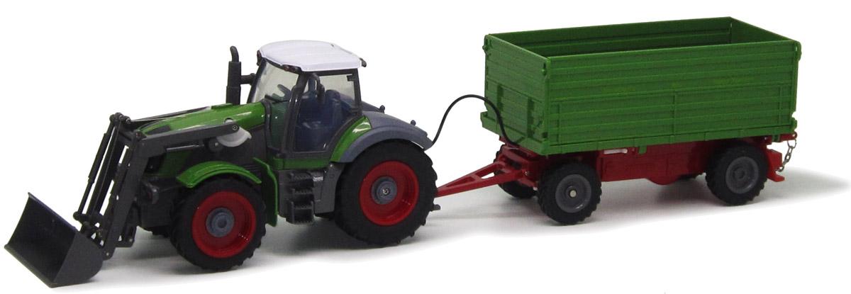 Пламенный мотор Трактор колесный на радиоуправлении с полуприцепом цвет зеленый - Радиоуправляемые игрушки