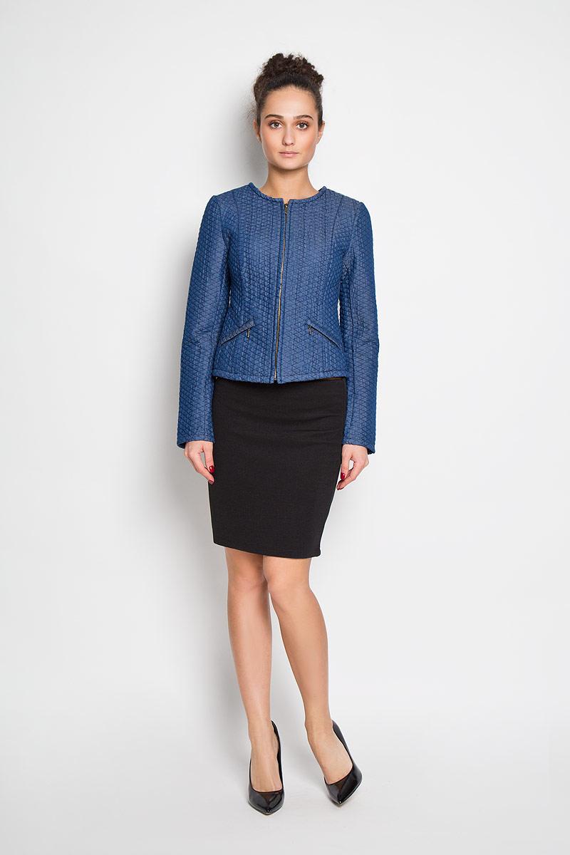 все цены на  Жакет женский Sela, цвет: синий. JTj-136/061-6152. Размер 48  онлайн