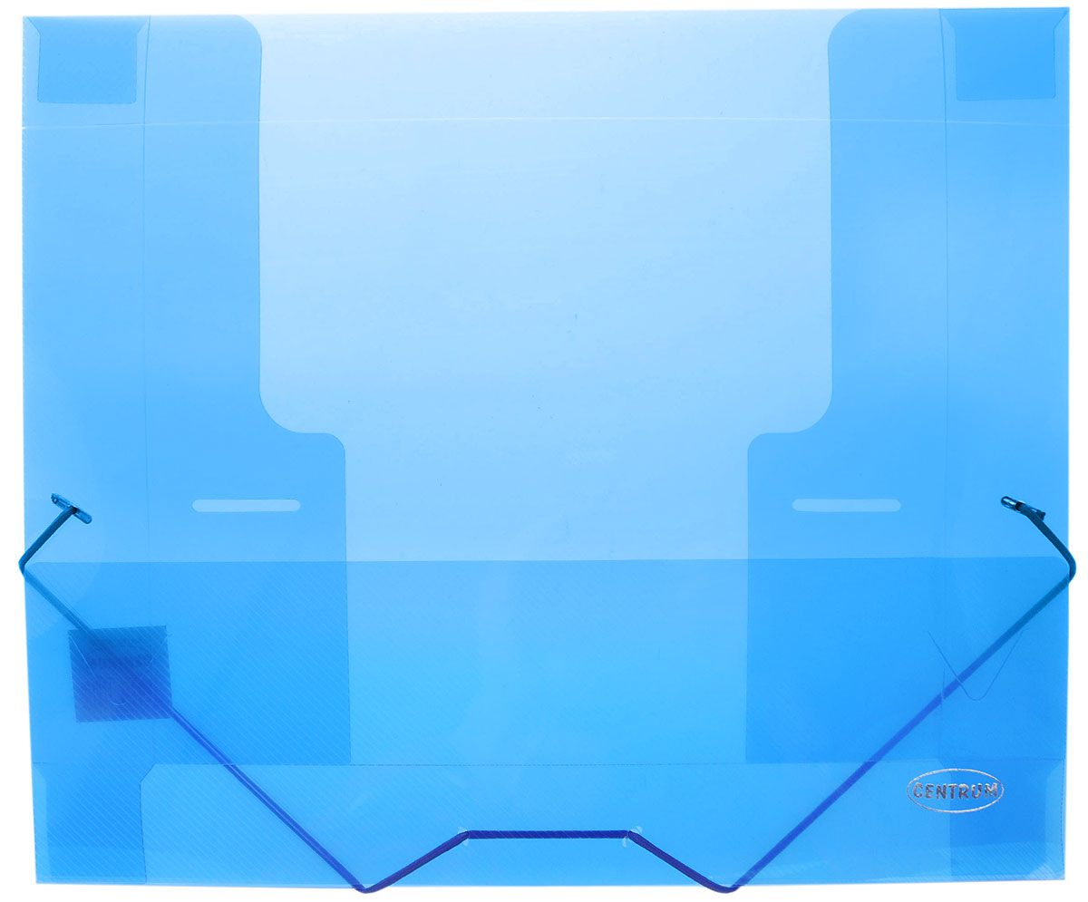 Centrum Папка на резинке формат А4 цвет синий папка с клипом centrum прозрачная цвет синий формат а4 4 шт