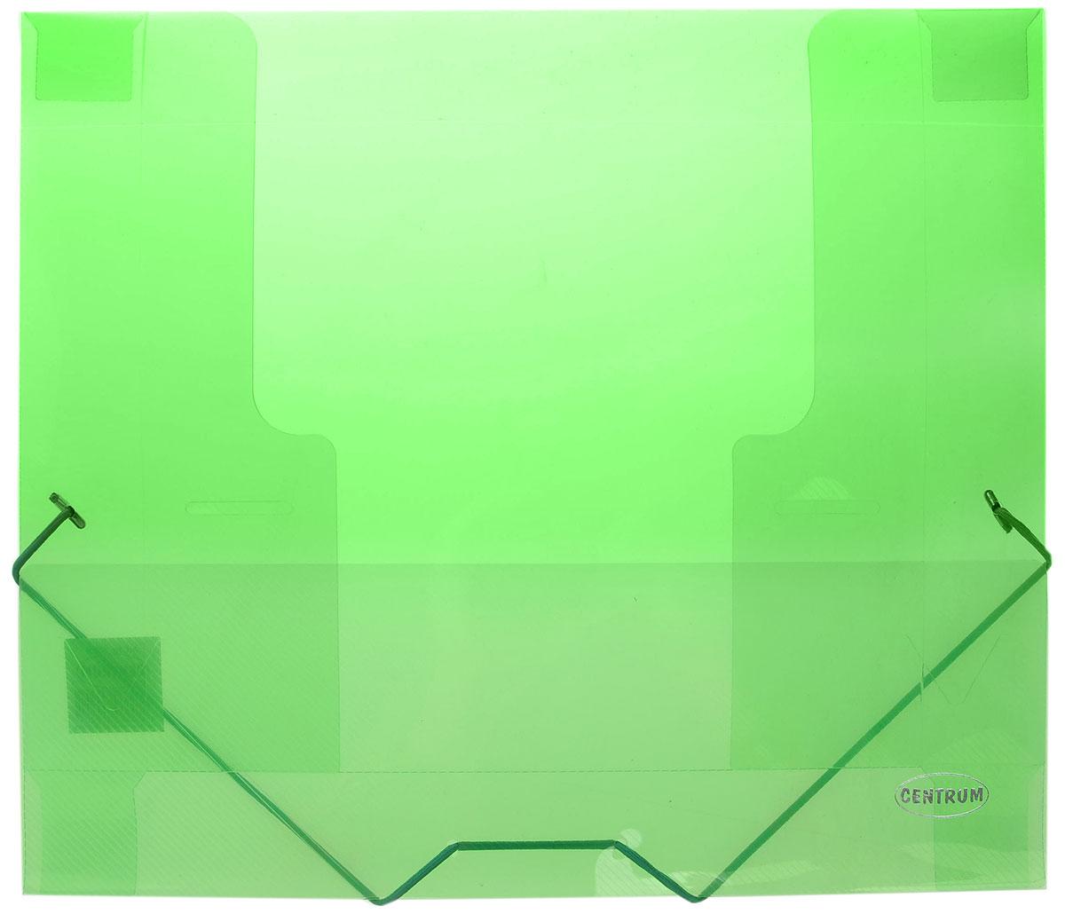 Centrum Папка на резинке формат А4 цвет зеленый80020_зеленыйПапка на резинке Centrum станет вашим верным помощником дома и в офисе. Это удобный и функциональный инструмент, предназначенный для хранения и транспортировки больших объемов рабочих бумаг и документов формата А4.Папка изготовлена из износостойкого высококачественного пластика. Состоит из одного вместительного отделения. Закрывается папка при помощи прочной резинки.Папка - это незаменимый атрибут для любого студента, школьника или офисного работника. Такая папка надежно сохранит ваши бумаги и сбережет их от повреждений, пыли и влаги.