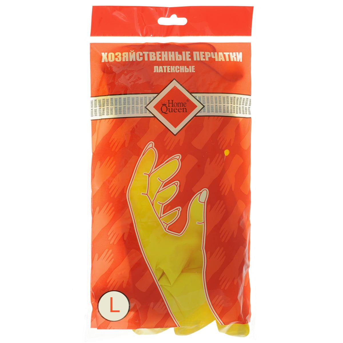 Перчатки латексные Home Queen. Размер L48_ lПерчатки Home Queen, изготовленные из латекса, защитят ваши руки от воздействия бытовой химии и грязи. Подойдут для всех видов хозяйственных работ.