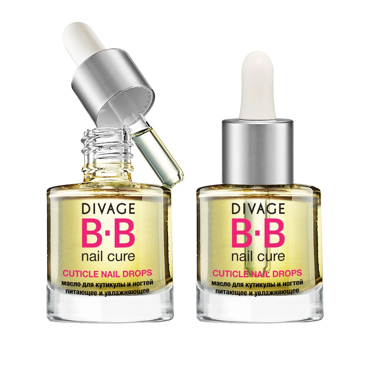 DIVAGE Масло для кутикулы и ногтей BB NAIL CURE CUTICLE OIL DROPS, 6 мл концентрат divage bb nail cure nail polish gel remuver 120 мл