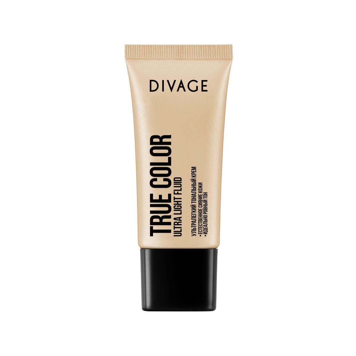 DIVAGE Тональный крем TRUE COLOR, тон № 05, 30 мл219616Невидимая и лёгкая тональная основа с прозрачной водянистой текстурой эффективно увлажняет и освежает кожу. Влага наполняет клетки и хорошо удерживается в поверхности кожи. Масло авокадо и витамины Е помогают клеткам кожи противостоять вредным воздействиям окружающей среды. Хорошо увлажнённая и защищённая кожа выглядит свежей, ухоженной и ровной без ощущения «маски на лице».