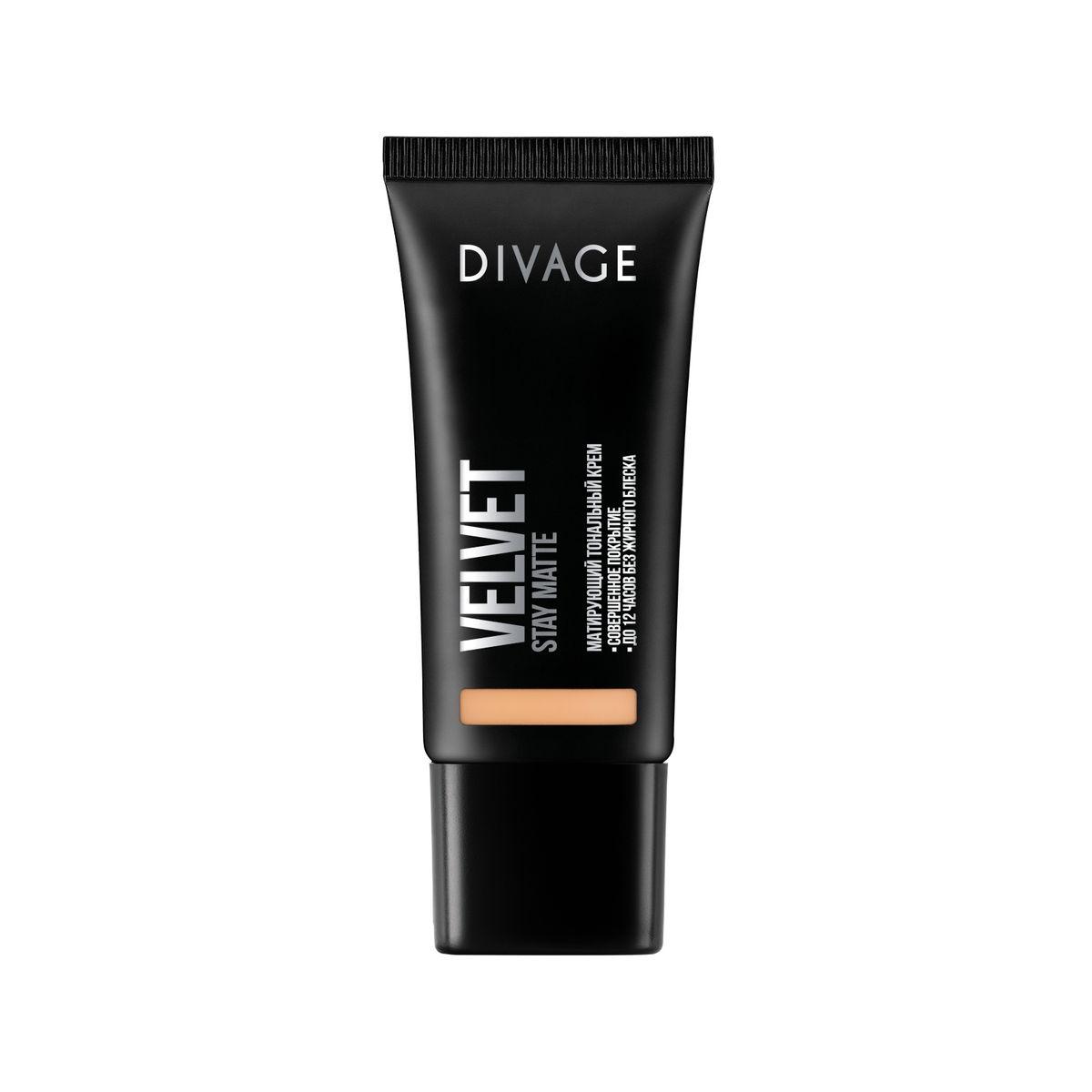 DIVAGE Тональный крем VELVET, тон № 03, 30 мл219647Нежная кремовая текстура обладает тройным действием. Микропигменты идеально выравнивают кожу, маскируя любые недостатки, и создают идеально ровный тон лица, придавая коже бархатное сияние. Витамин Е защищает кожу от вредного воздействия окружающей среды. Экстракт зеленого чая, входящий в состав формулы, сужает поры и придаёт дополнительную матовость коже лица. Тональный крем держится до 12 часов, сохраняя кожу ровной и гладкой без жирного блеска.