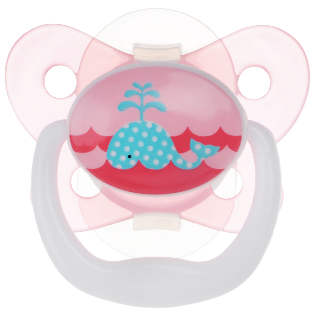 Dr.Brown's Пустышка PreVent Бабочка Кит от 0 до 6 месяцев цвет розовый