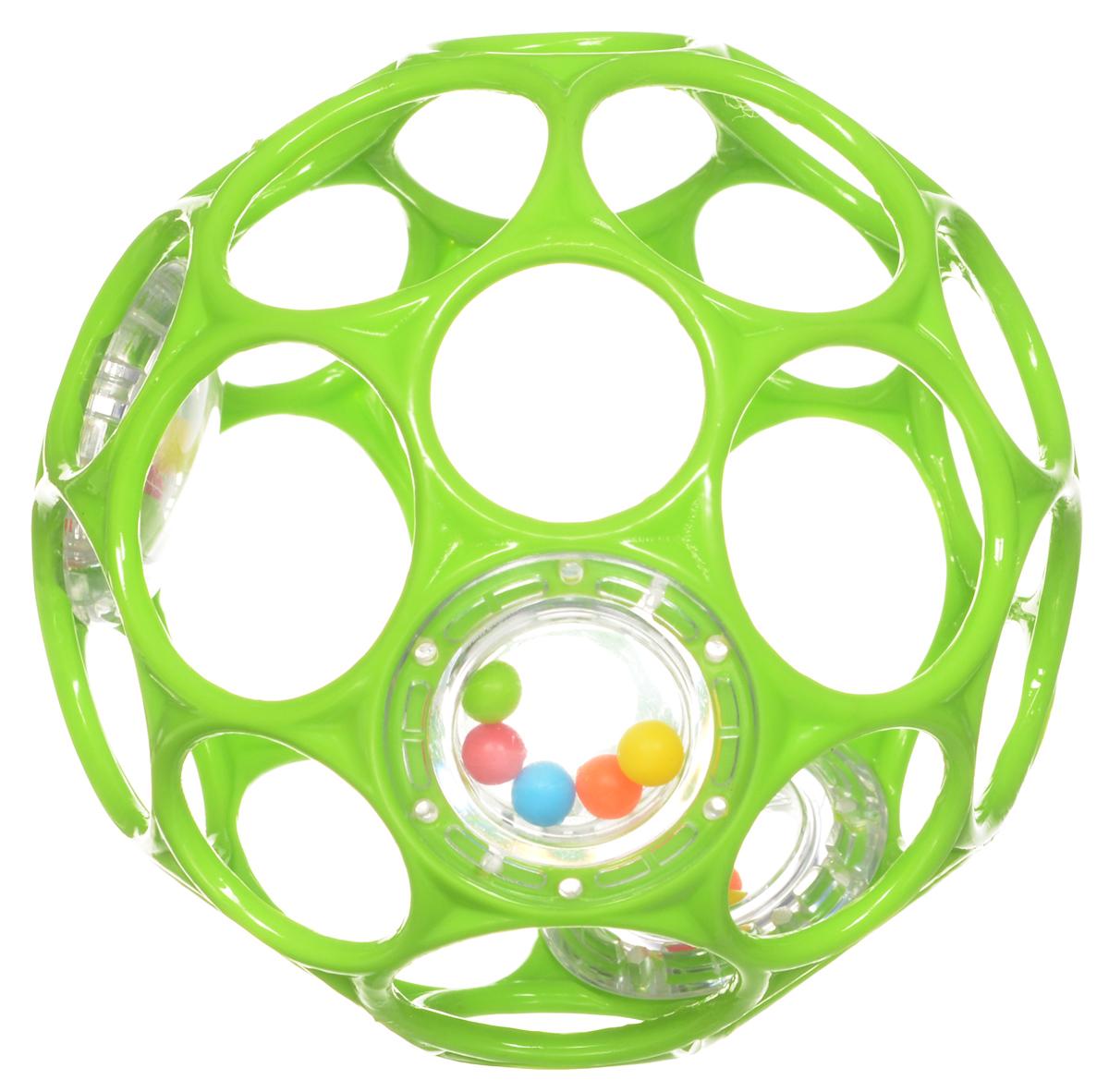 Oball Мячик Гремящий цвет салатовый головоломки oball развивающая игрушка на присоске oball