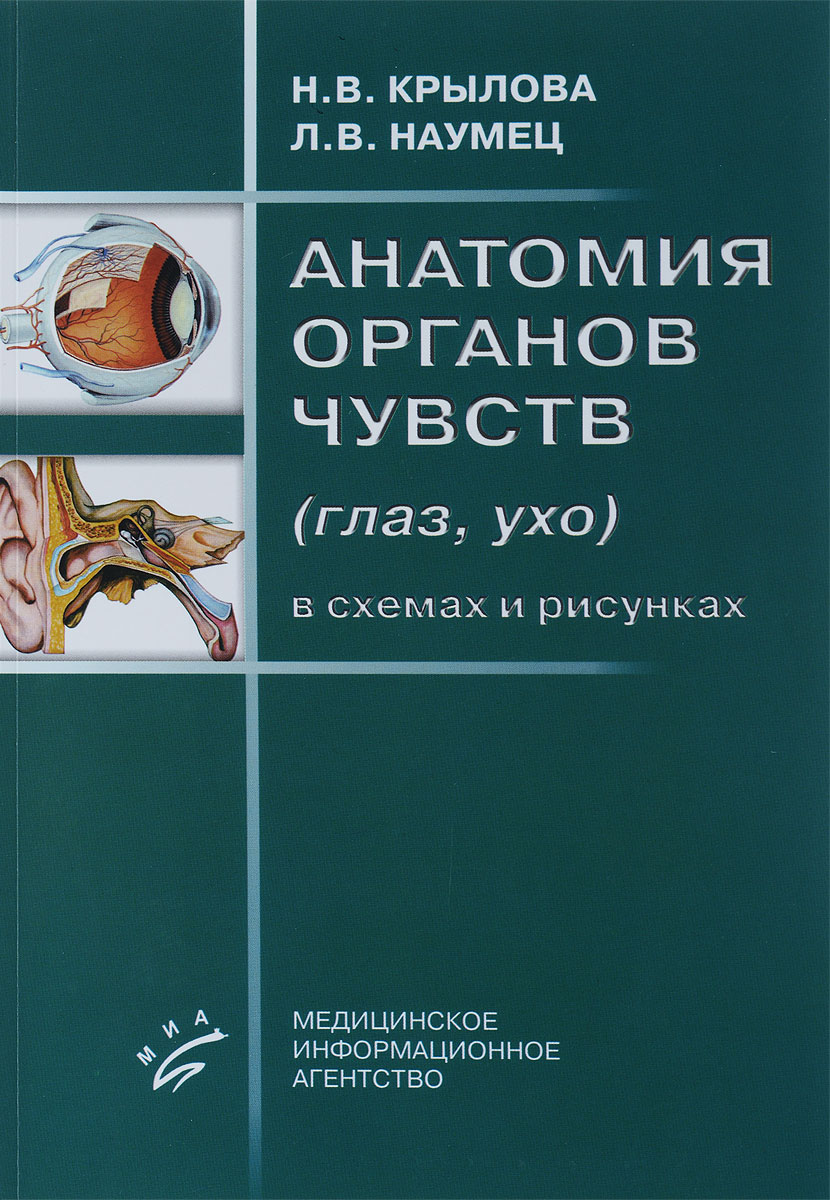 Анатомия органов чувств (глаз, ухо) в схемах и рисунках. Учебное пособие