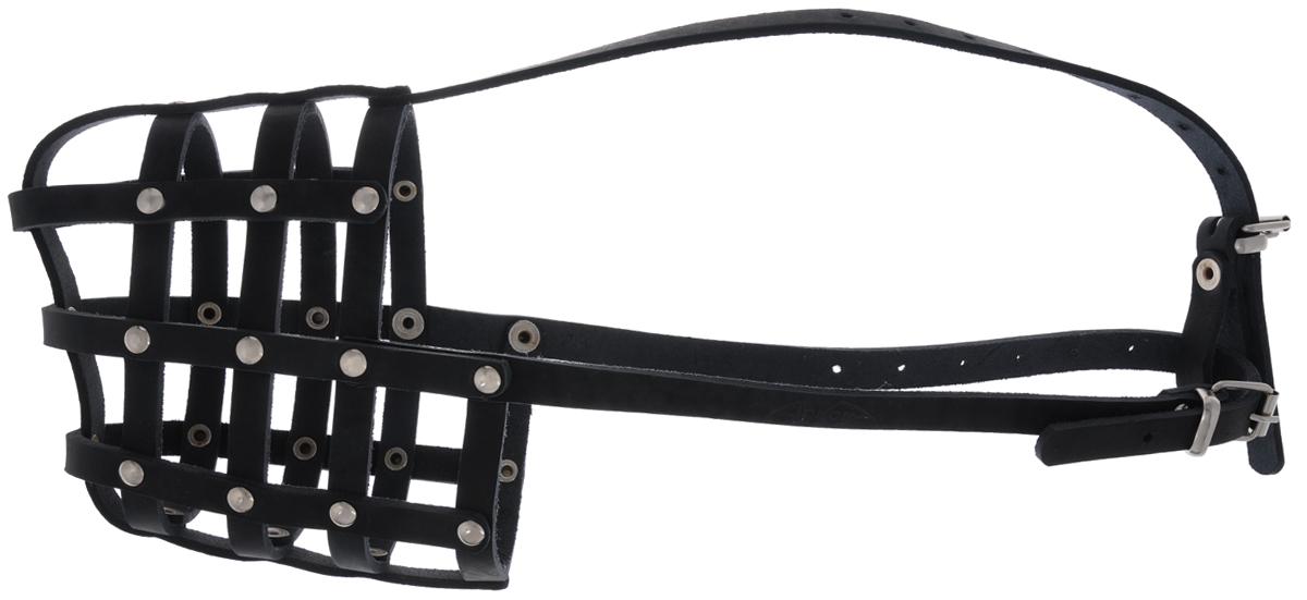 Намордник для собак Аркон, цвет: черный. Размер 34 см