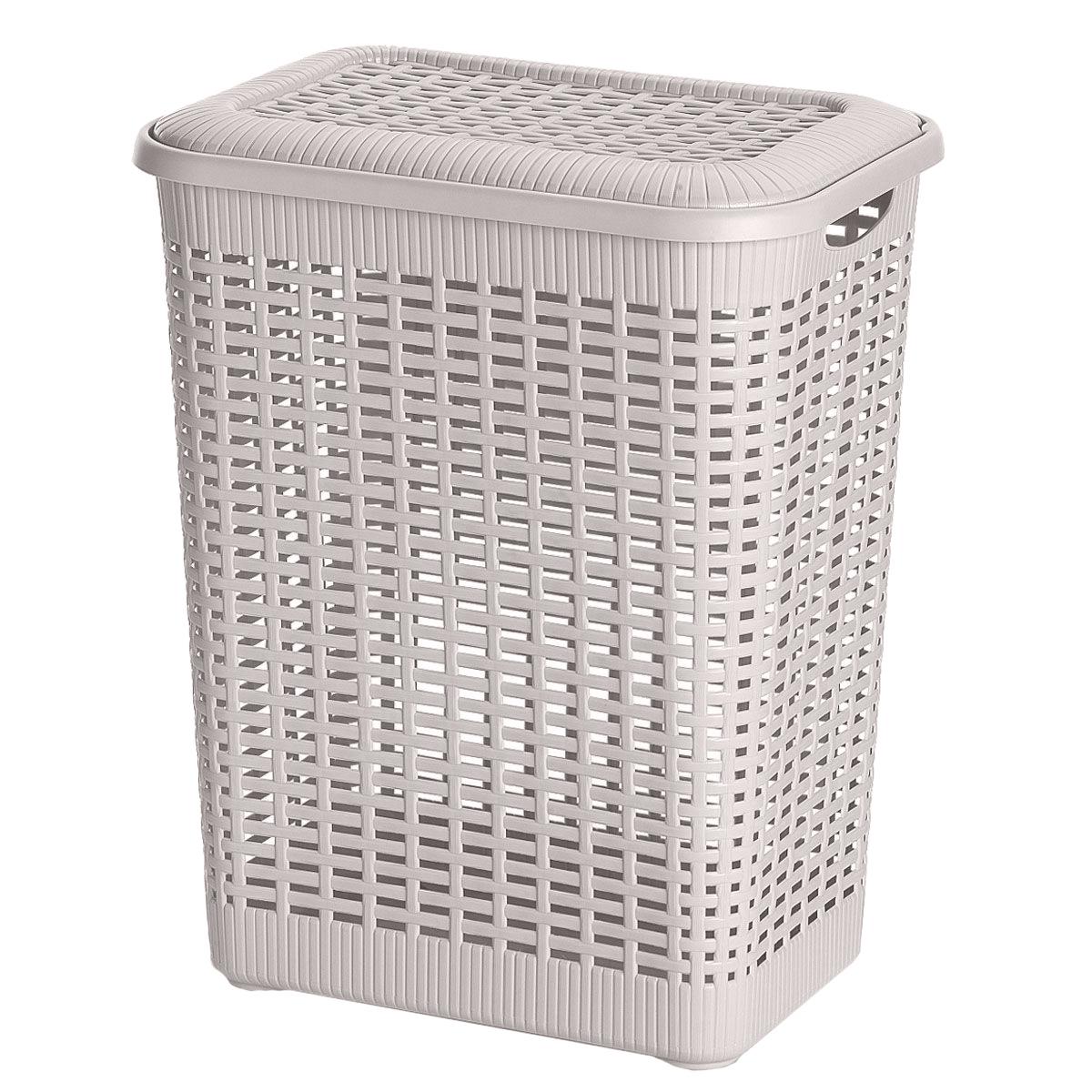 Корзина хозяйственная Gensini Rattan, цвет: молочный, 50 л2158_молочныйПрямоугольная корзина Gensini Rattan изготовлена из прочного пластика. Она предназначена для хранения мелочей в ванной, на кухне, даче или гараже. Позволяет хранить мелкие вещи, исключая возможность их потери. Изделие оснащено съемной плотно закрывающейся крышкой. На стенках и крышке имеются отверстия в виде плетения. Дно сплошное. Сбоку имеются две ручки для удобной переноски.