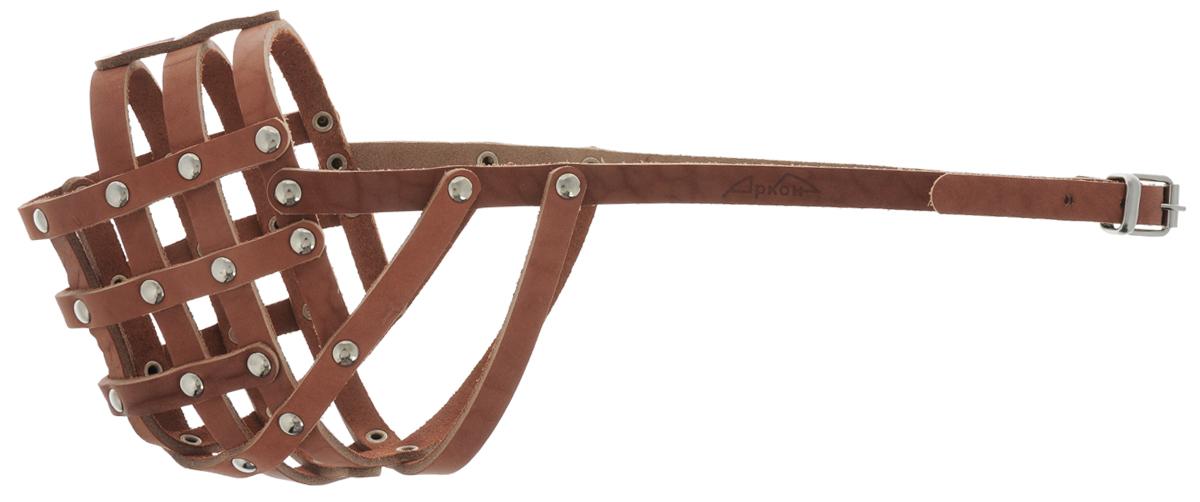 Намордник Аркон, 36 см, цвет: коньячный. н36мк