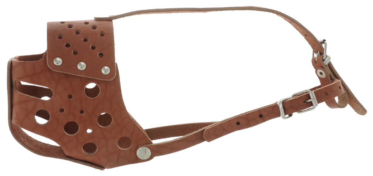 Намордник для собак Аркон, цвет: коньячный. Размер 34 см комплект для собак аркон стандарт 6 цвет красный 2 предмета